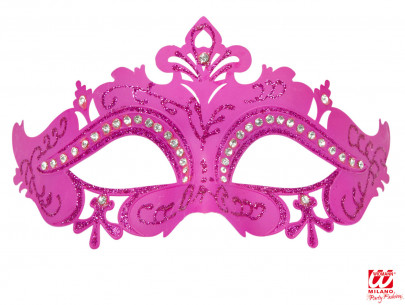 Máscara Veneciana Rosa Brillo