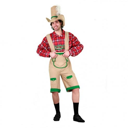 Disfraz de Tirolés Pantalón Corto