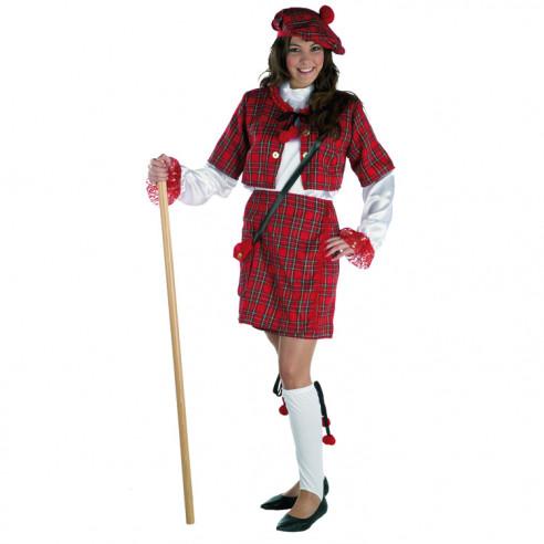 Disfraz Escocesa Lujo