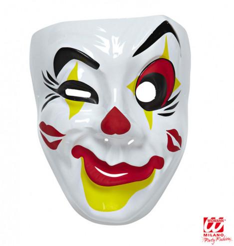 Máscara Payaso de Plástico Ojo Rojo