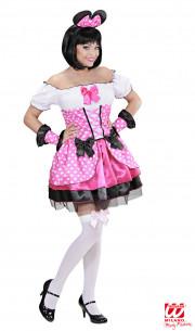 Disfraz Ratoncita Rosa Mujer
