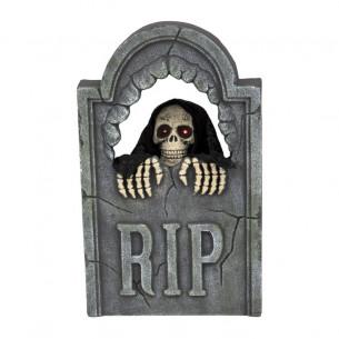 Lápida Halloween con luz y...