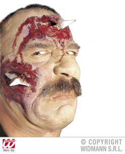 Herida estrellas en la cara