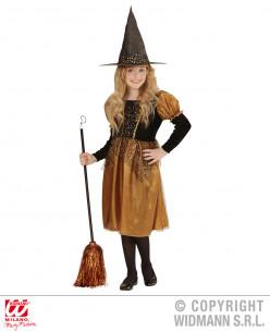 Disfraz de bruja niña naranja