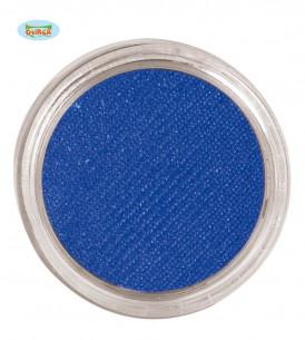 Maquillaje al agua azul oscuro
