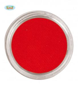 Maquillaje al agua rojo