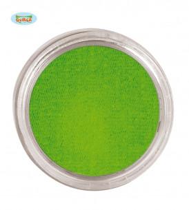 Maquillaje al agua verde
