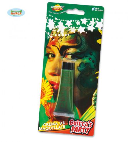Maquillaje en crema verde