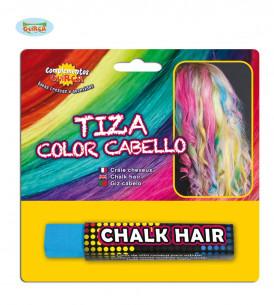 Tiza  para el pelo azul