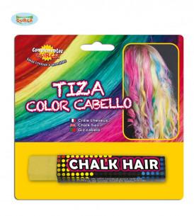 Tiza para el pelo amarilla