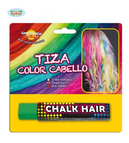 Tiza para el pelo verde