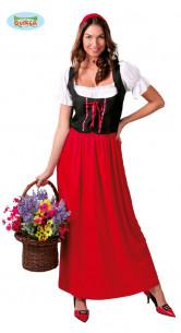 Disfraz de posadera rojo