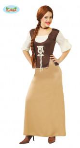 Disfraz de posadera marrón