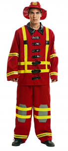 Disfraz de bombero adulto