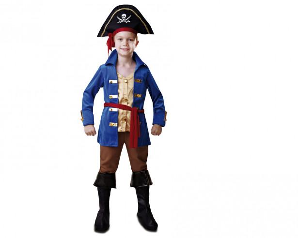 Disfraz capitan pirata niño