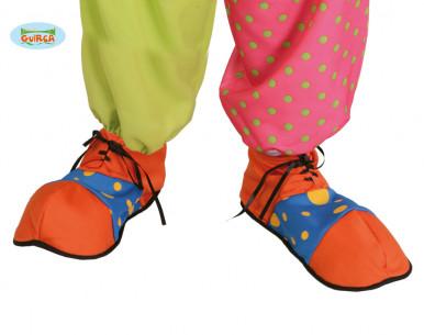 Zapatos de payaso naranja y...