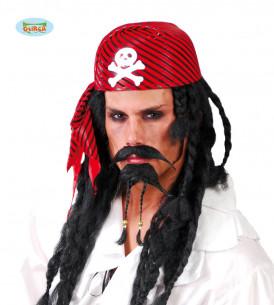 pañuelo pirata rojo