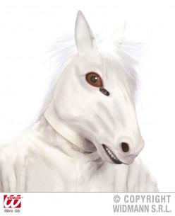 mascara de caballo blanco