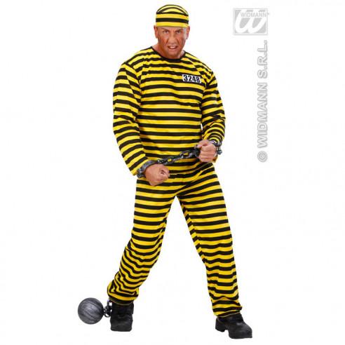 Disfraz de Preso Amarillo para Hombre