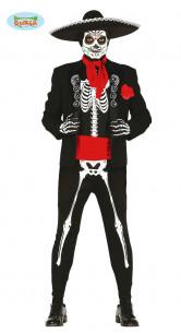Disfraz de esqueleto mexicano