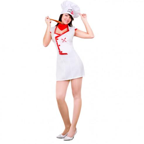Disfraz de La Chef del Amor para Mujer