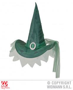 Sombrero verde de bruja