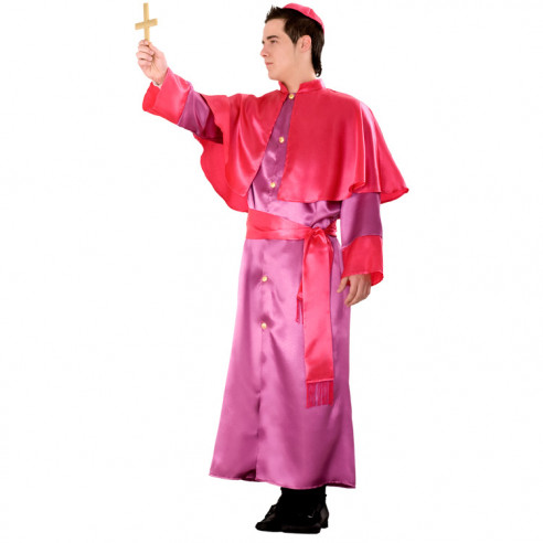 Disfraz de Obispo Morado para Hombre