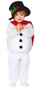 Disfraz muñeco de nieve bebé