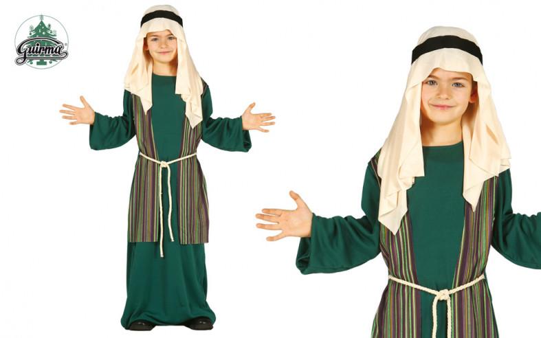 Disfraz de San José infantil verde