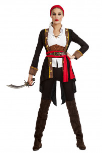 Disfraz pirata mujer negro