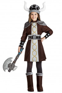 Disfraz vikinga niña