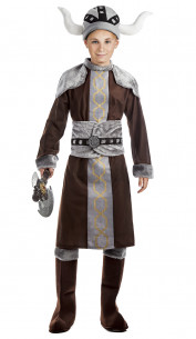 Disfraz vikingo niño
