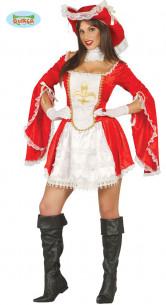 Disfraz de mosquetera mujer