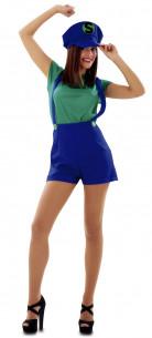 Disfraz Luigi mujer