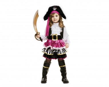 Disfraz pirata bebé niña
