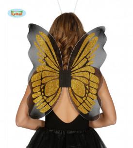 Alas de mariposa doradas