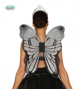 Alas de mariposa plateadas