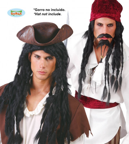 Peluca Jack Sparrow