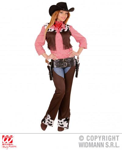 Disfraz cowgirl rosa