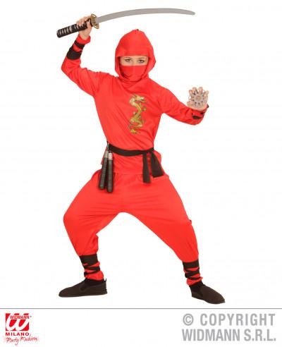 Disfraz ninja niño rojo