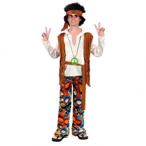 Disfraz de Hippie con Chaleco para...