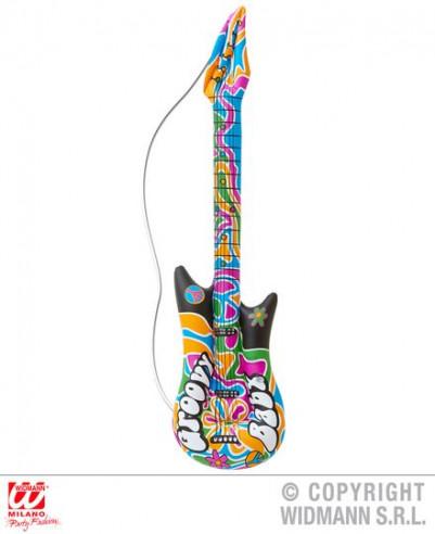 Guitarra hinchable hippie