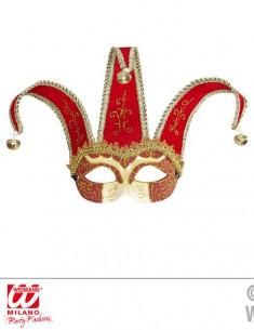 Máscara veneciana de arlequín