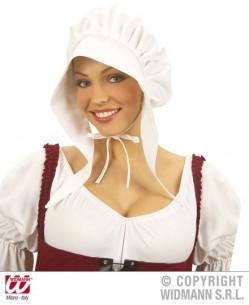 Gorro blanco doncella medieval