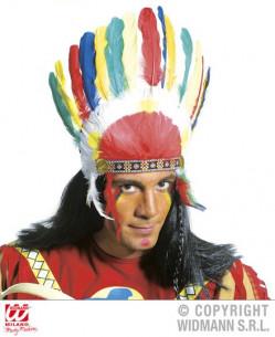 Tocado indio con plumas