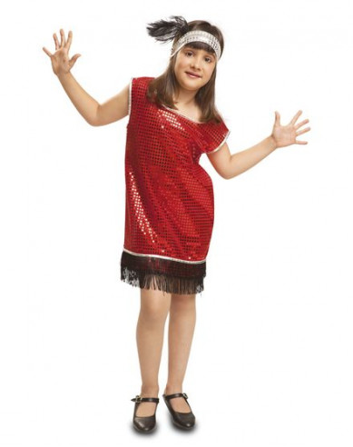 Disfraz Charleston Rojo Niña