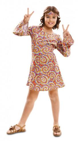 Disfraz de hippie psicodelica niña