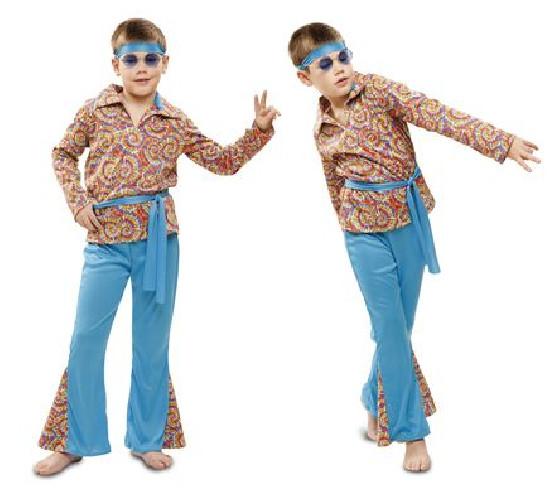 Disfraz de hippie psicodelico niño