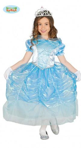 Disfraz princesa niña azul