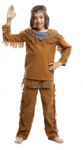 Disfraz de indio niño marrón